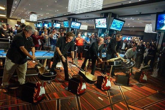 Seminole Hard Rock Hotel & Casino Tampa Debuts New Poker Room with Ceremonial Guitar Smash | Tampa
